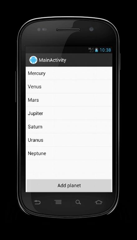 listview add button