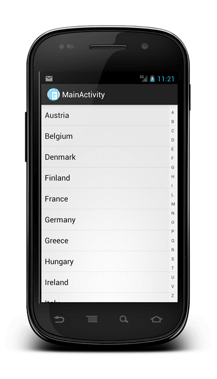 android listview sectionindexer
