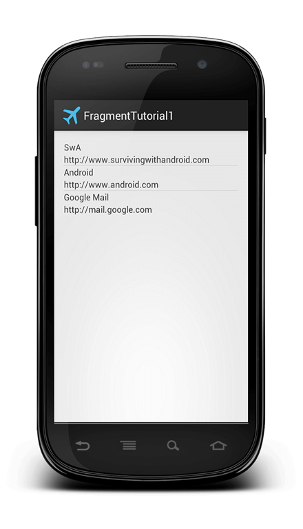 android fragment tutorial