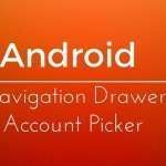 Android navigation drawer – Account picker