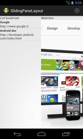 android slidingpanelayout page loaded