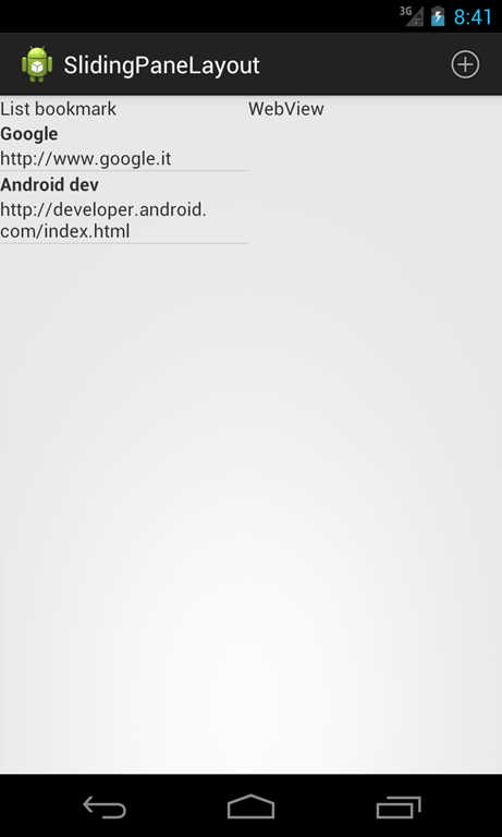 android slidingpanelayout sliding