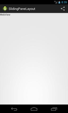 android slidingpanelayout webview thumb