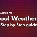 Android Weather app using Yahoo weather provider and AutoCompleteTextView (Part 1)