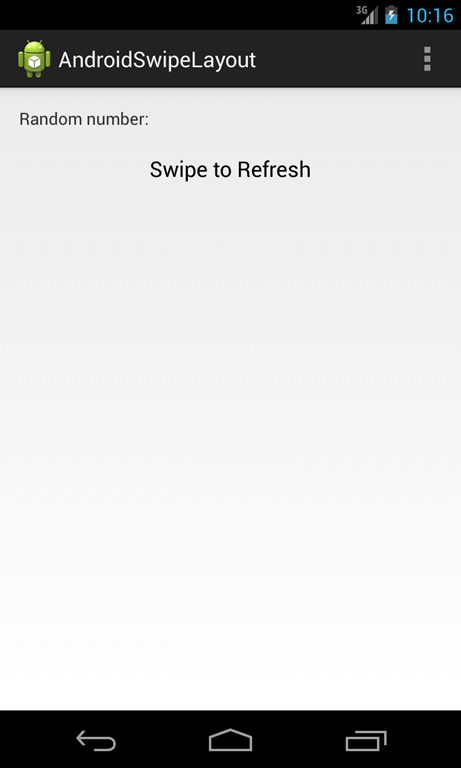 android swipe to refresh layout