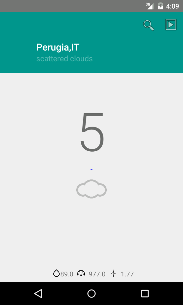 material weather app