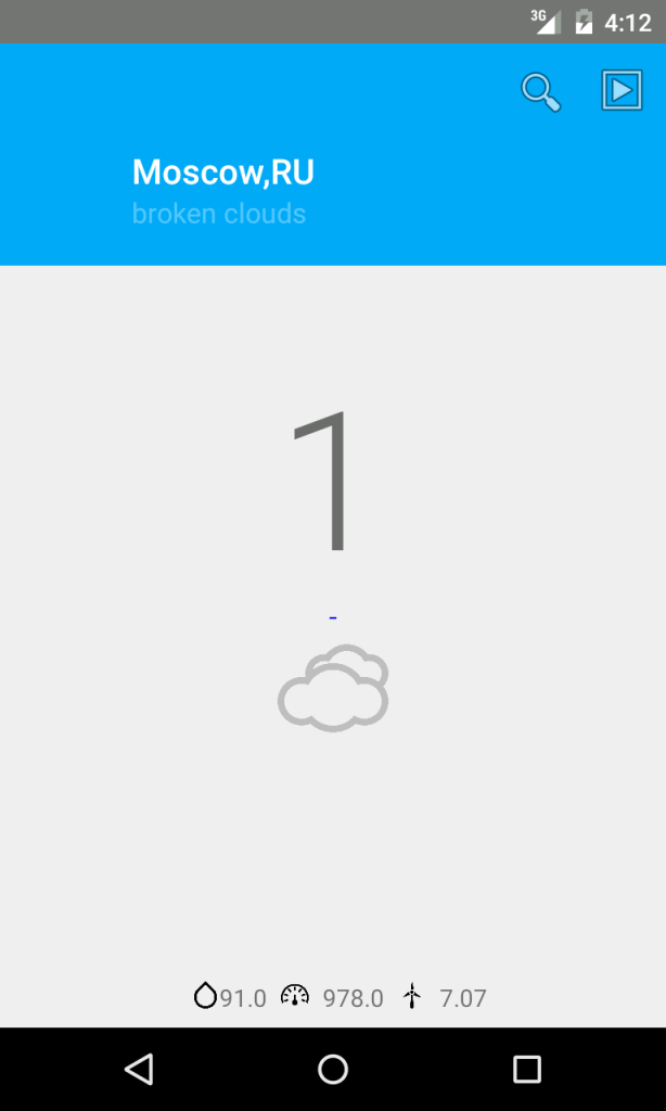 android weather app with material design