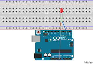 arduino breadboard with led