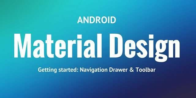 Android navigation drawer with material design