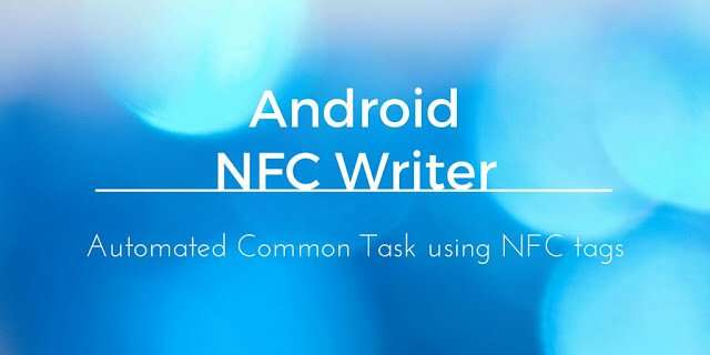 How to write NFC tags inAndroid
