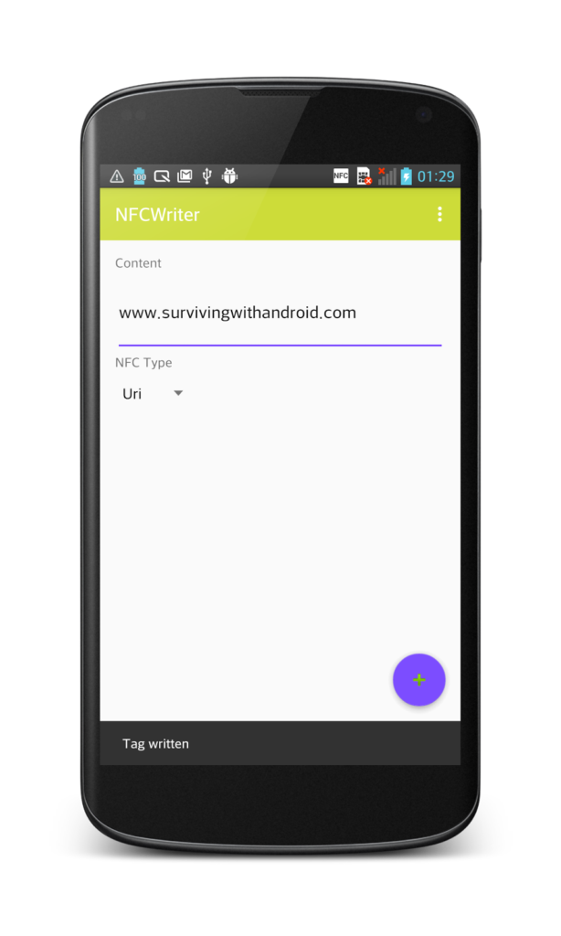 android nfc create url