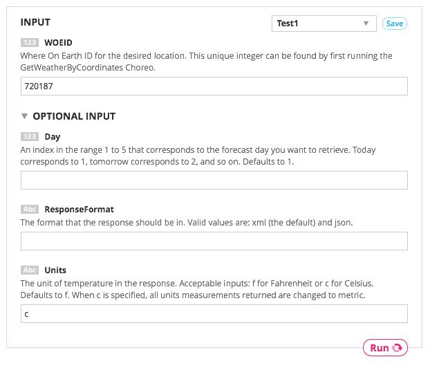 Arduino Temboo integration using Yahoo choreos