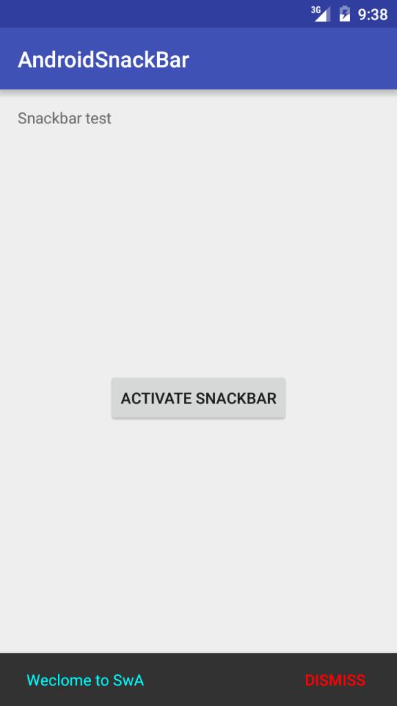 android snackbar custom color