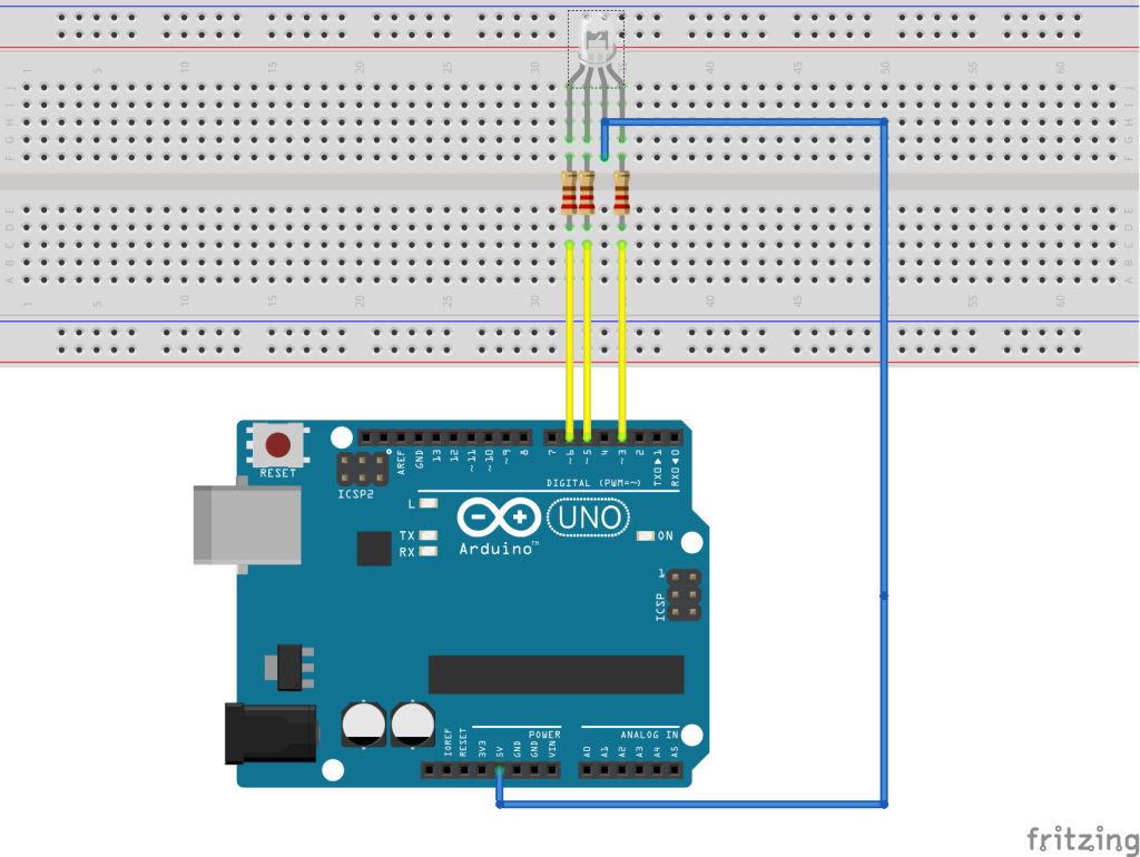 arduino led: control RGB led using android app