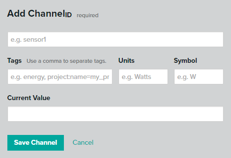 xively channel config