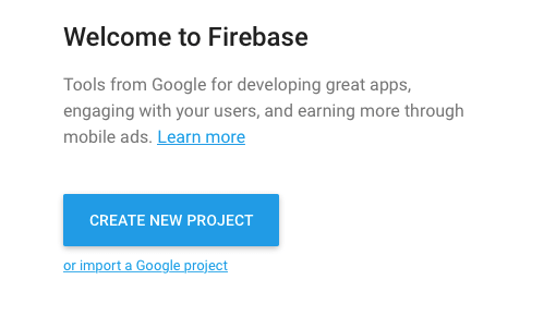 android firebase create new project
