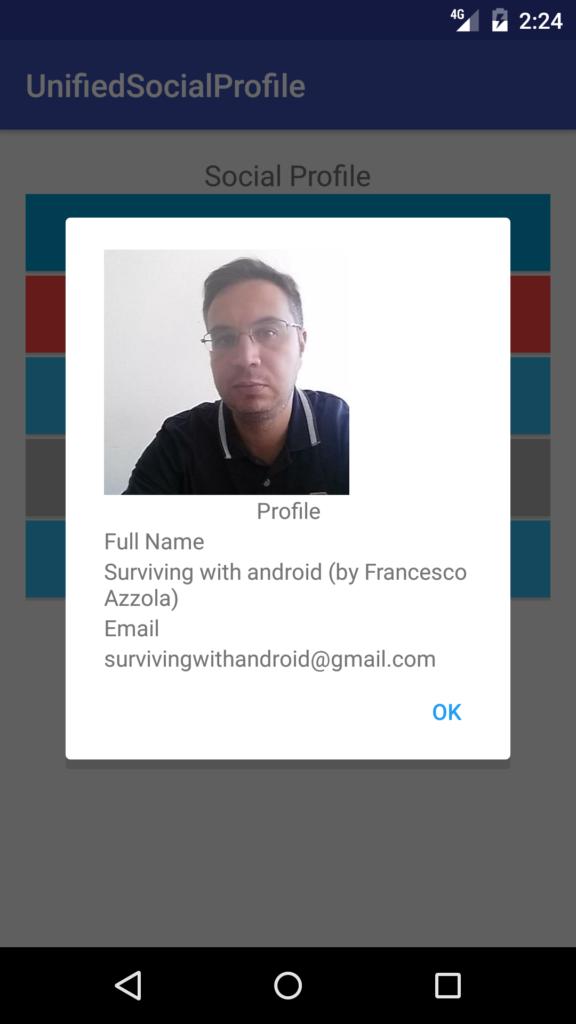 android social profile github