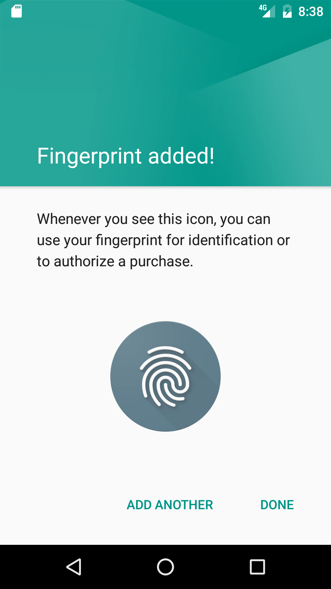 android avd fingerprint config