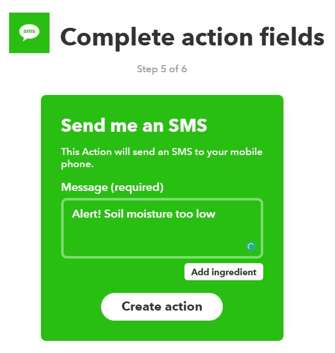 ifft sending message