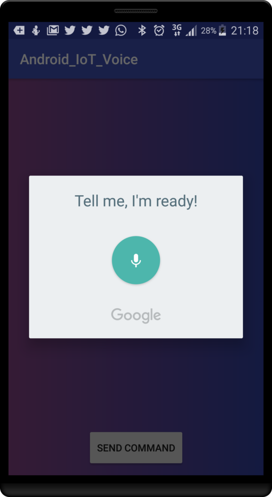 android iot voice app
