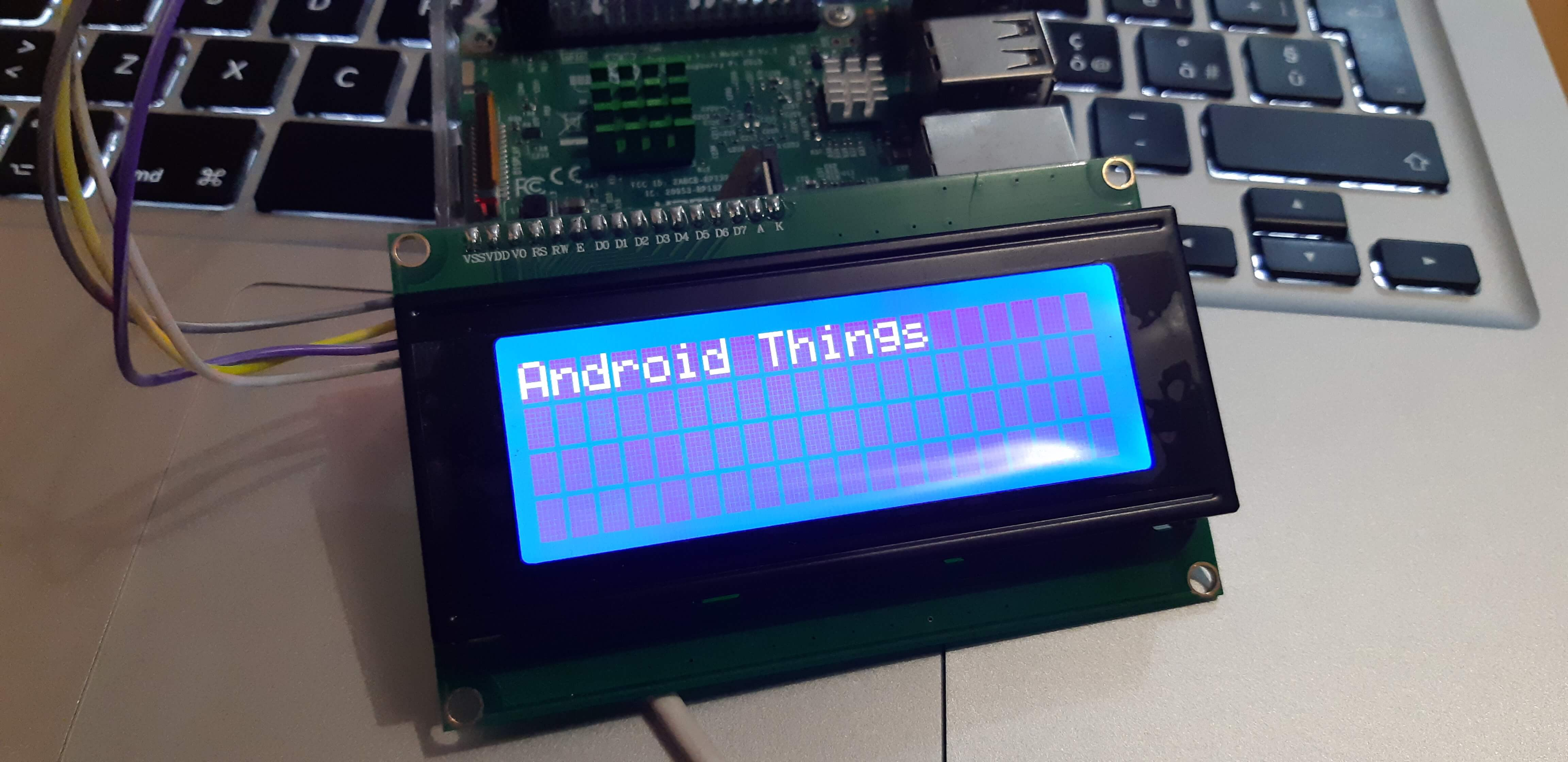 android things lcd display