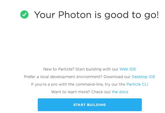 particle photon setup completed