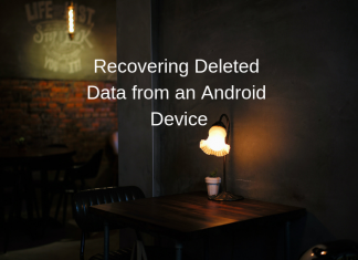 recovering deleted data from an android device