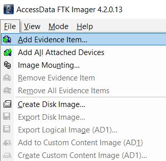 FTK Imager
