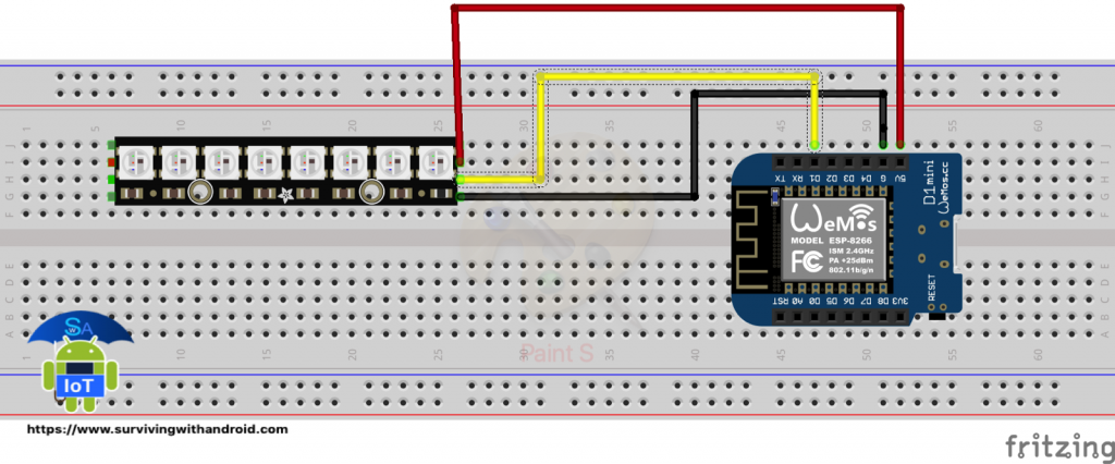 ESP8266 LEDs. How to invoke Rest JSON API using ESP866 to control LEDs