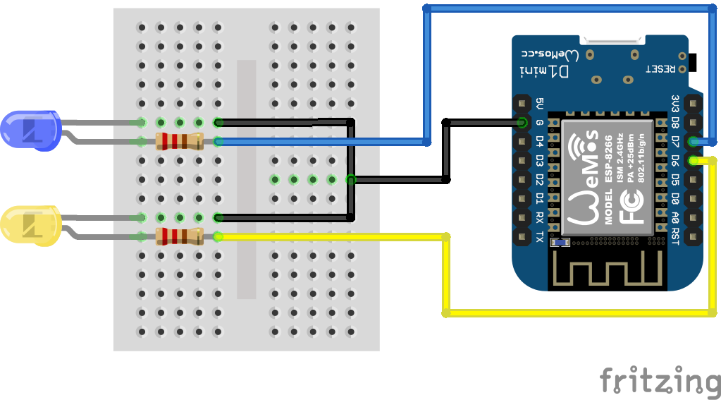 ESP8266 Telegram LEDs