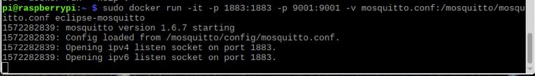 Raspberry Pi Mosquitto Docker
