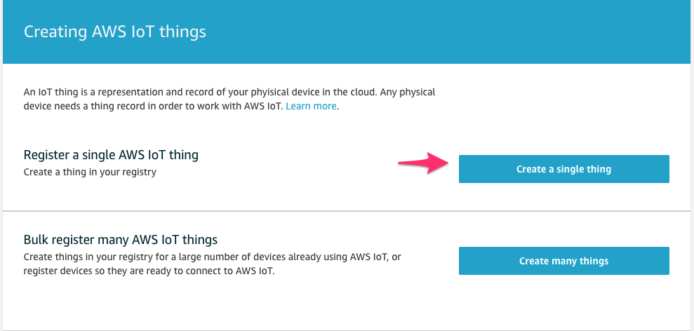 How to create a AWS IoT Thing