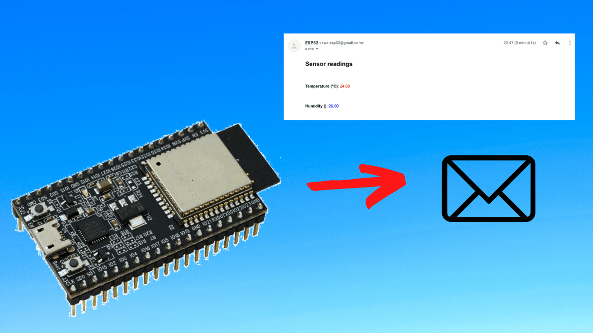 Send email using ESP32 with SMTP server