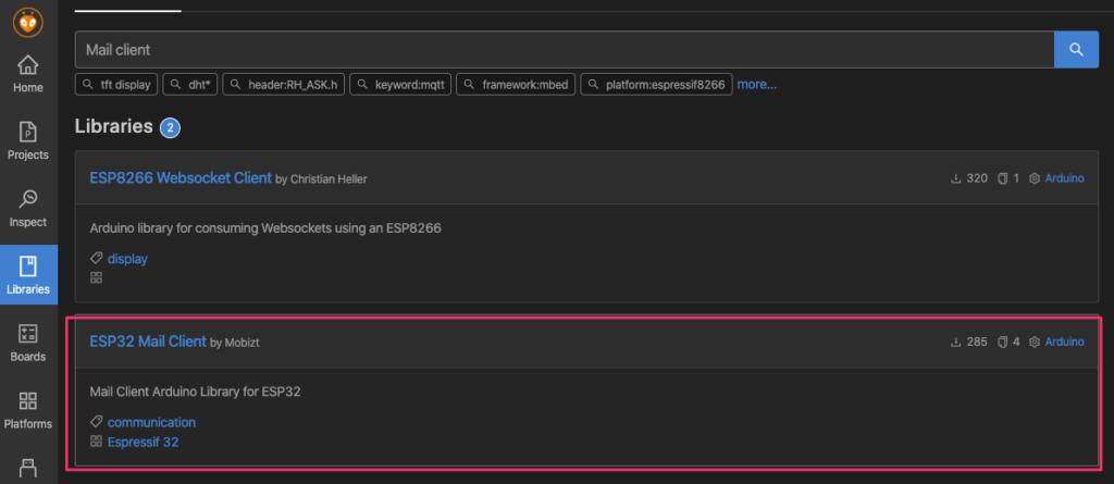 ESP32 Email client