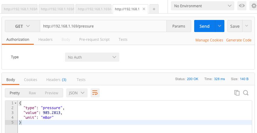 ESP 32 API server test