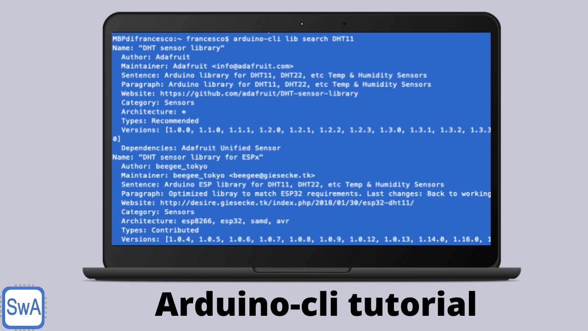Arduino-cli tutorial