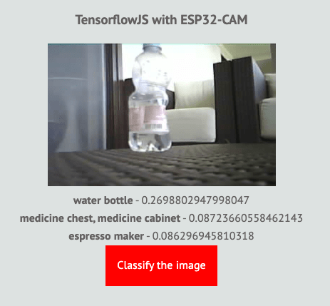 How to implement image classification using ESP32-CAM and Tensorflow.js