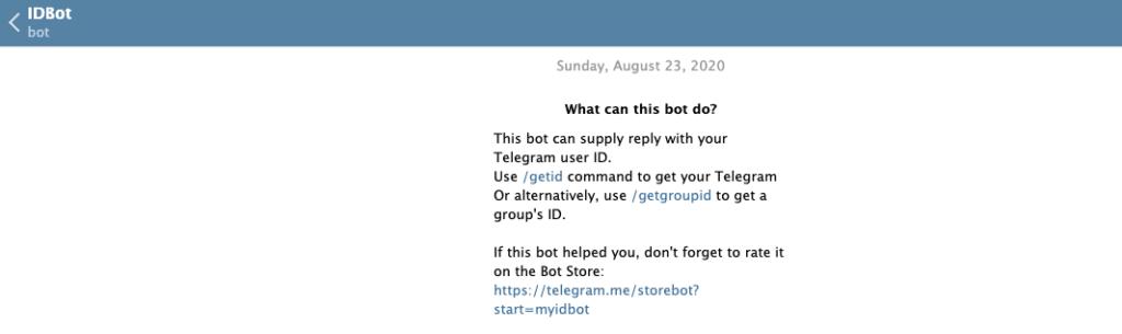 Telegram IDBot