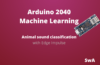 How to classify animal sound using Machine Learning and Arduino RP2040